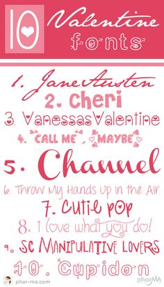 10 free Valentine's Day Fonts