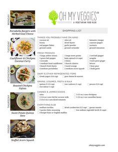 ... Chickpea Curry, Roasted Chickpea Fajitas + 2 more vegetarian meal