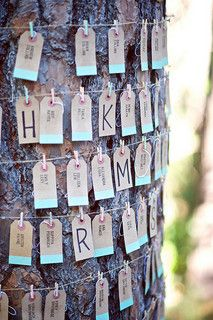 Wedding Gift Ideas Manila : Use manila labeling tags to show seating arrangements or have guests ...