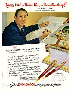 Walt Disney for Eversharp pens.
