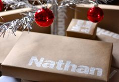 I love this idea for wrapping gifts!