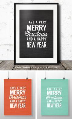 Merry Christmas Printable Wall Art