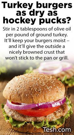 Turkey burger tip.