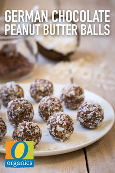 Packed with creamy peanut butter and decadent chocolate, this German Chocolate Peanut Butter Ball recipe is the perfect tasty, bite-size treat. The kids will love these for dessert!