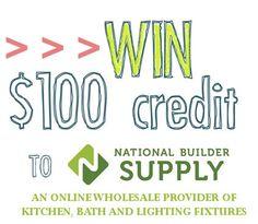 Win $100 credit for National Builder Supply | Wifeinprogressblog.com