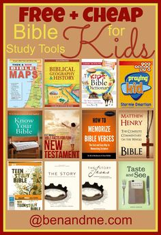 Free   Cheap Bible Study Tools for Kids #Kindle #Bible #homeschool