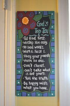 God's Top Ten...simply put.