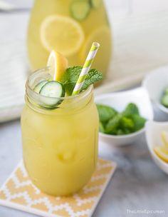 Cucumber Mint Lemonade |The Little Epicurean