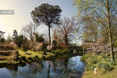 Four photos stitched together to show a panorama of this beautiful garden that I visited in the first season opening (in April).