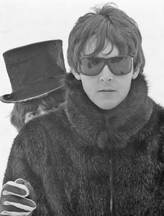 Paul McCartney and George Harrison by Henry Grossman.
