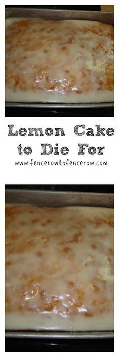 Lemon Cake to Die For!