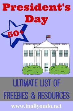 50+ President's Day Freebies for Teachers