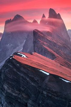 Sunrise in Dolomites, Italy