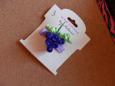 Grapes and Vines Ribbon Sculpture Hair Clip by melanieswartz, $3.00