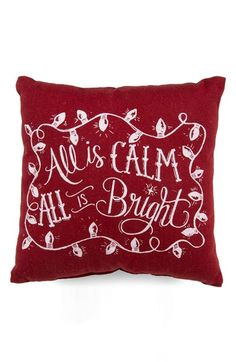 'all is calm' holiday pillow http://rstyle.me/n/tmiyhr9te