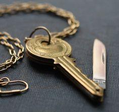 Key/Pocket Knife Necklace.