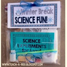 Holiday Gifts- Give the gift of science to your students this year! Cheap and easy kits with a neat wow factor!  $