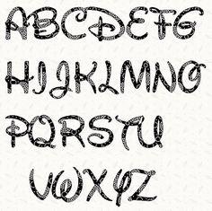 Printable alphabet letter stencil: Walt Disney alphabet template in pdf. $6.50, via Etsy.
