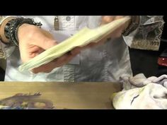 Tim Holtz shows the difference between using Alcohol Inks on Glossy paper and Yupo. As well, he shows some techniques for using Alcohol Inks on Yupo.