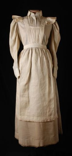 Maid's uniform, 1890-1905.
