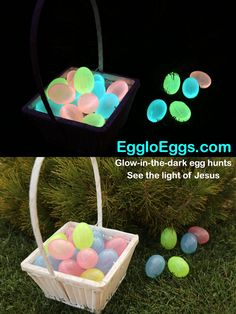 Egglo Eggs is an exciting, interactive glow-in-the-dark Easter Egg hunt program designed to keep the focus on Jesus and teach your kids His truths.  Ready? Set. Glow! Egglo.com