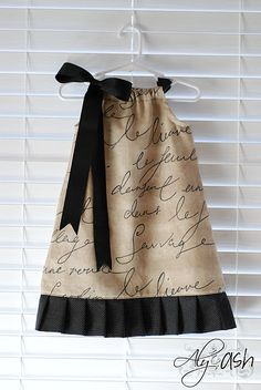 Pillowcase Dress trimmed with pleats
