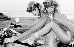 girls on motorcycle
