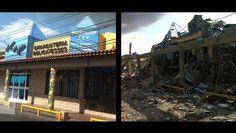Antes y después de comercios cerca de Amuay