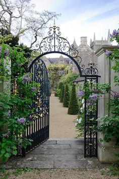 Beautiful entrance to the garden