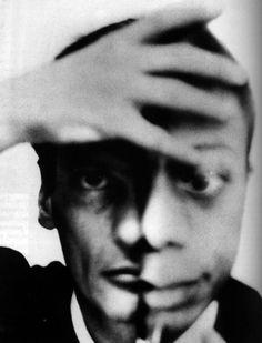 Richard Avedon self portrait merging with James Baldwin?
