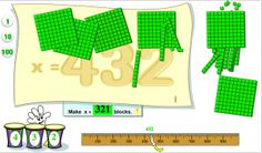 Learning Box Base 10 Blocks: Virtual math manipulative/ posted on 7-09-11. Great for iwb (primary & elementary levels