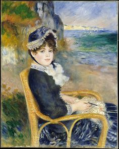 FRANCE | Auguste Renoir (French, 1841–1919). By the Seashore, 1883. The Metropolitan Museum of Art, New York. H. O. Havemeyer Collection, Bequest of Mrs. H. O. Havemeyer, 1929 (29.100.125) #WorldCup