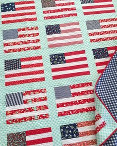 sewing a flag