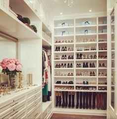 A beautifully organized closet.