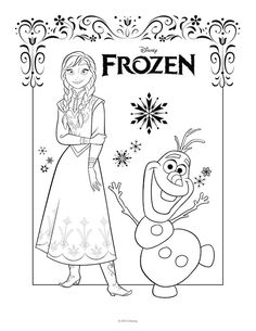 12 FREE Frozen Party Printables | Frozen Coloring Pages ...