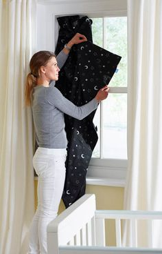 For those babies that need darkness to sleep, we love @Grant Roden Company Gro Anywhere Blind for traveling! #babygear