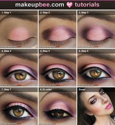 pink and purple make up