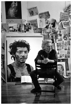 """I like this photo of one of my favorite photographers, Richard Avedon, because it is taken by another of my favorite photographers, John Loengard. Loengard published a book """"Age of Silver"""" of photographs he took of other photographers and their famous negatives."""