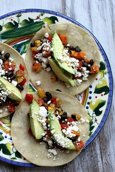 Roasted Vegetable and Black Bean Tacos