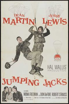 With more of an accent on comedy than romance, Jumping Jacks turns outto be more of a Jerry Lewis than a Dean Martin picture. Description from moviesdvdnewreleases.com. I searched for this on bing.com/images