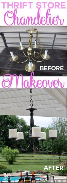 How-to-Make-Over-a-Thrift-Store-Chandelier-to-resemble-one-from-Pottery-Barn. this would be great above the tub!