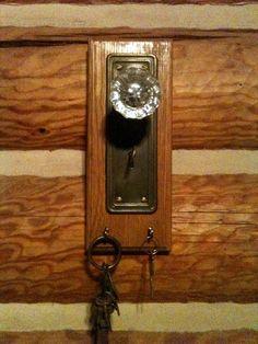 old door knob key holder