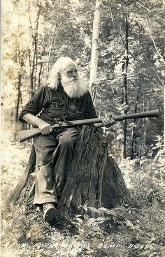 Beards. Men. Going Grey. Hunter. Photography. Vintage.