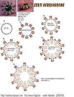 Оплетение риволи бисером в технике ндебеле . Обсуждение на LiveInternet - Российский Сервис Онлайн-Дневников