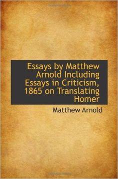 essays of matthew arnold