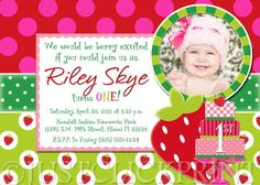 Strawberry shortcake invite