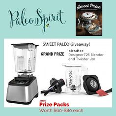 Want to win a Blendtec Blender and Twister Jar? Enter at Paleo Spirit for multiple chances to win this and other prize packs. Open through May 4th