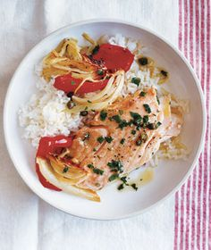 Baked salmon with lemon, thyme and asparagus | Recipe | Baked Salmon ...
