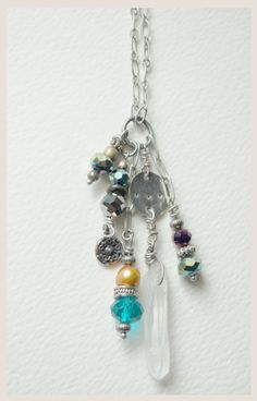 Crystal Cluster Poetry Necklace
