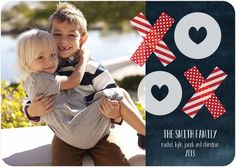 XOXO! Precious Affection - Valentine's Day Photo Cards by Jill Smith for Tiny Prints in Baltic Blue. #ValentinesDay